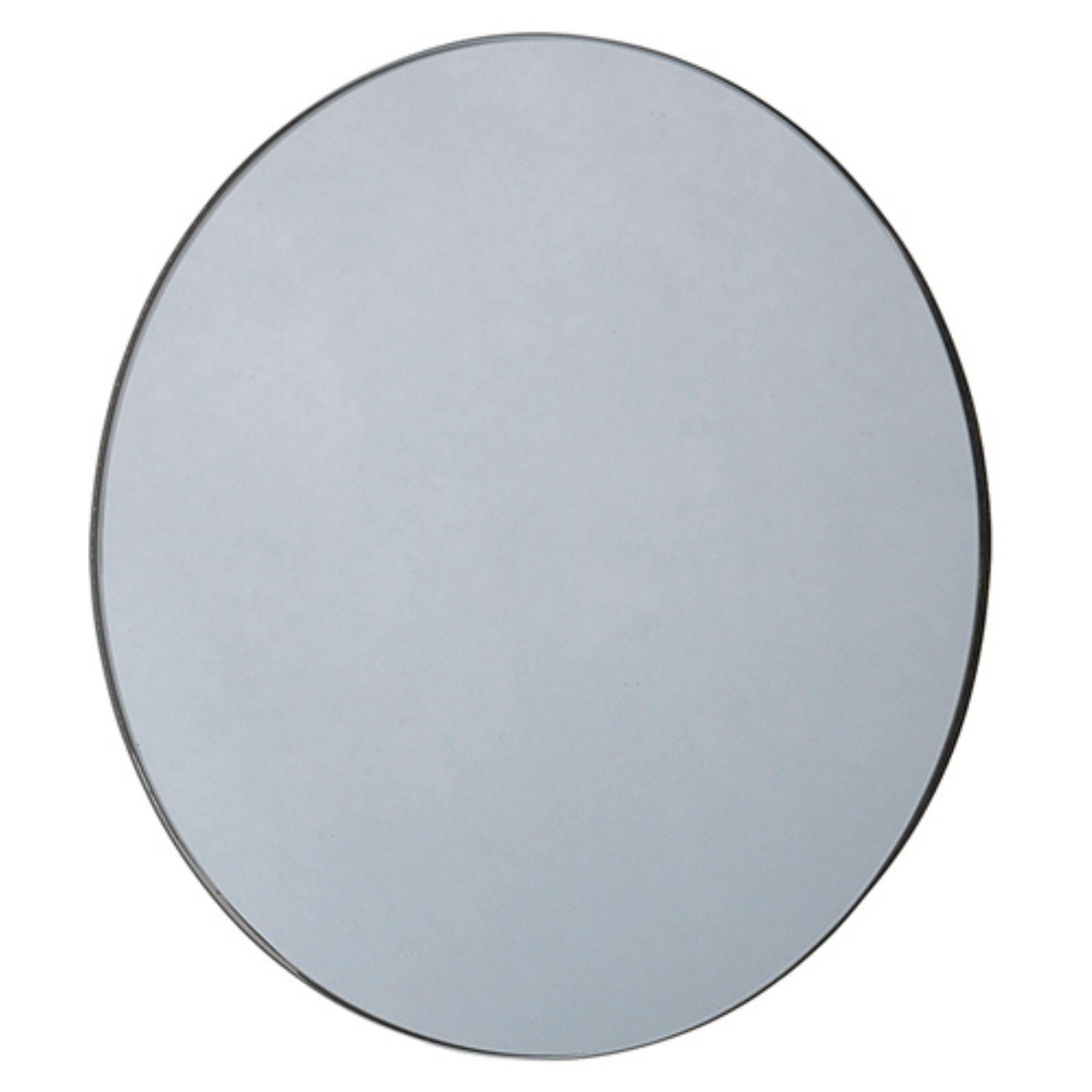 Blomus Vision Small Round Accent Wall Mirror | Products In In Reign Frameless Oval Scalloped Beveled Wall Mirrors (Image 4 of 20)