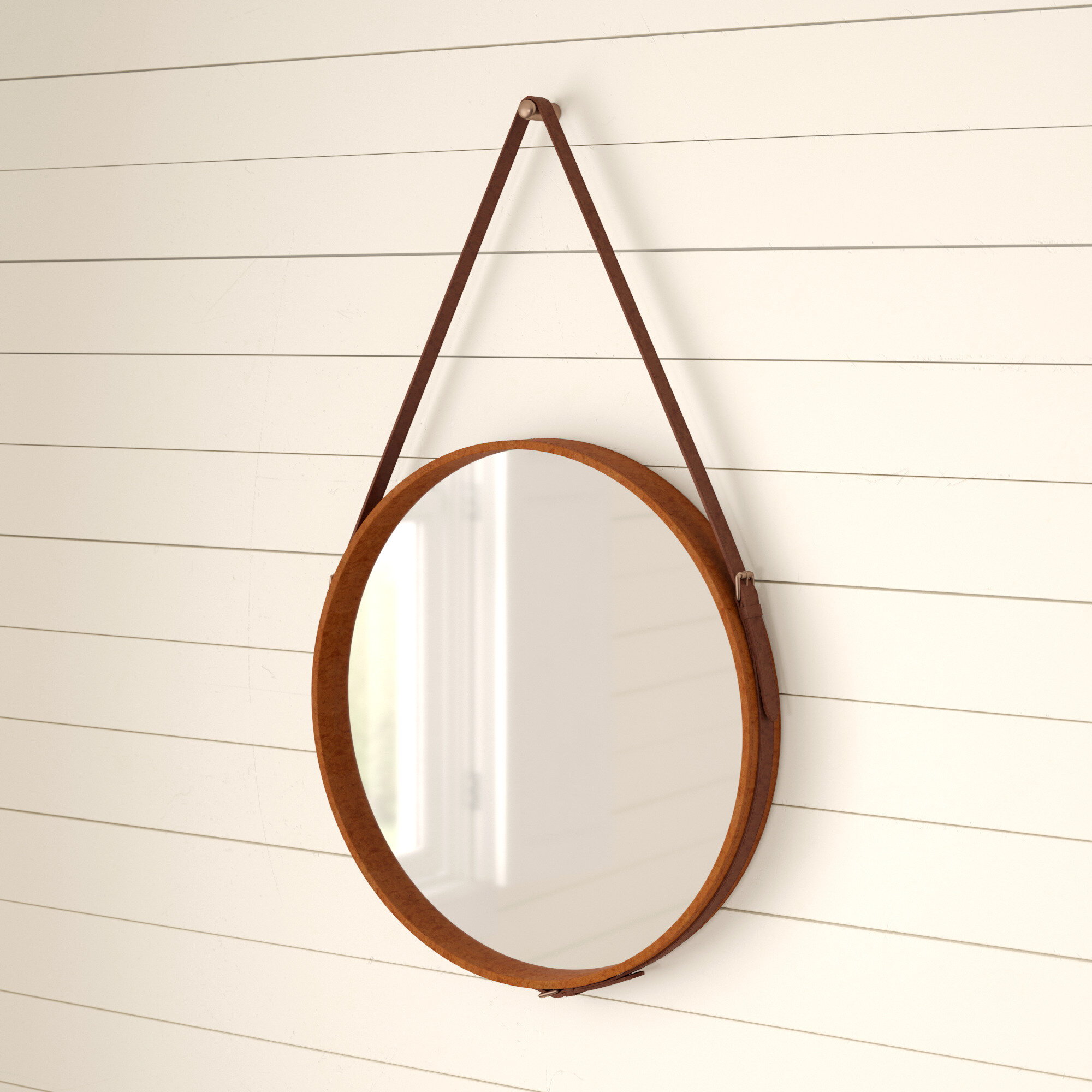 Bombay Distressed Vertical Round Wall Mirror Within Vertical Round Wall Mirrors (Image 6 of 20)
