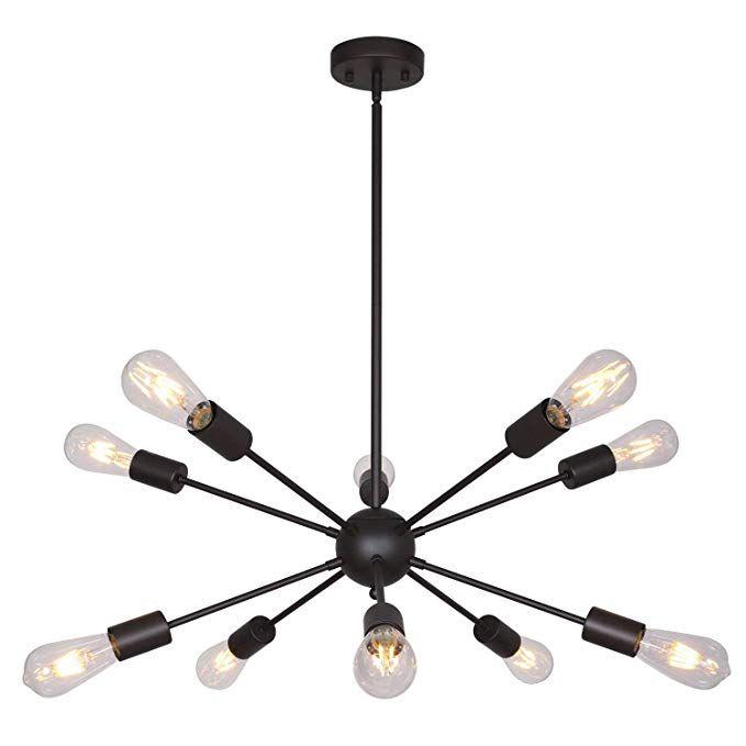 Bonlicht Modern Sputnik Chandelier Lighting 10 Lights Oil For Vroman 12 Light Sputnik Chandeliers (View 16 of 20)