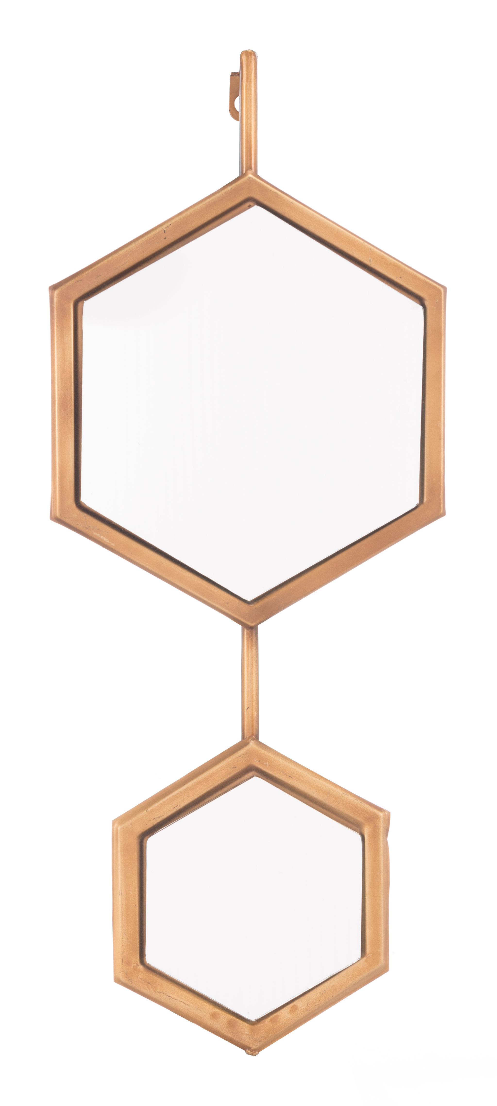 Bonnett Metal Framed Accent Mirror In Gia Hexagon Accent Mirrors (Image 2 of 20)