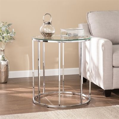 Boston Loft Furnishings End Table Atg2764 Cassin Round With Throughout Silver Orchid Henderson Faux Stone Round End Tables (View 20 of 25)