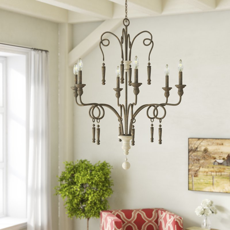 Bouchette 6 Light Candle Style Chandelier Regarding Bouchette Traditional 6 Light Candle Style Chandeliers (View 4 of 20)
