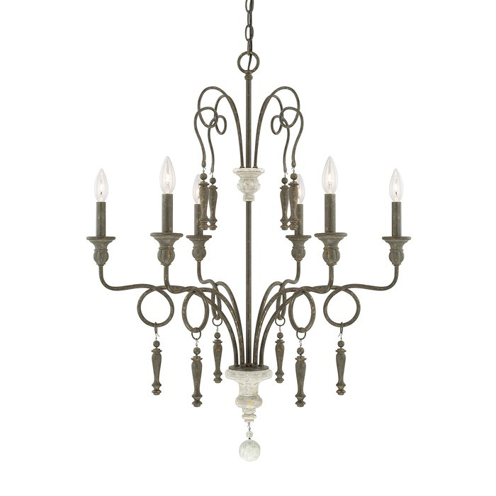 Bouchette 6 Light Candle Style Chandelier With Regard To Bouchette Traditional 6 Light Candle Style Chandeliers (View 7 of 20)