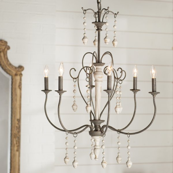 Featured Image of Bouchette Traditional 6 Light Candle Style Chandeliers