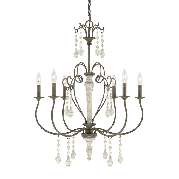 Bouchette Traditional 6 Light Candle Style Chandelier Regarding Bouchette Traditional 6 Light Candle Style Chandeliers (View 3 of 20)