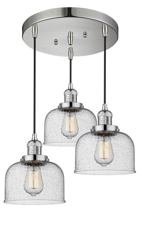 Bousquet 3 Light Cluster Pendant | My Decorating: Master Throughout Vernice 3 Light Cluster Bell Pendants (Image 4 of 25)