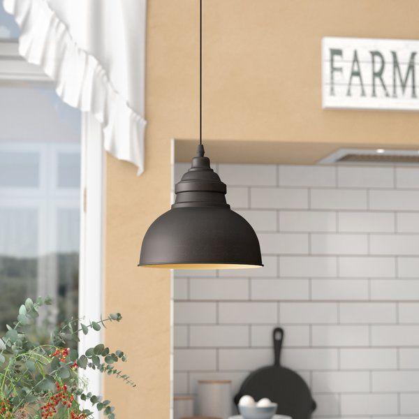 Bouvet Industrial 1 Light Dome Pendant In Hamilton 1 Light Single Dome Pendants (Image 7 of 25)