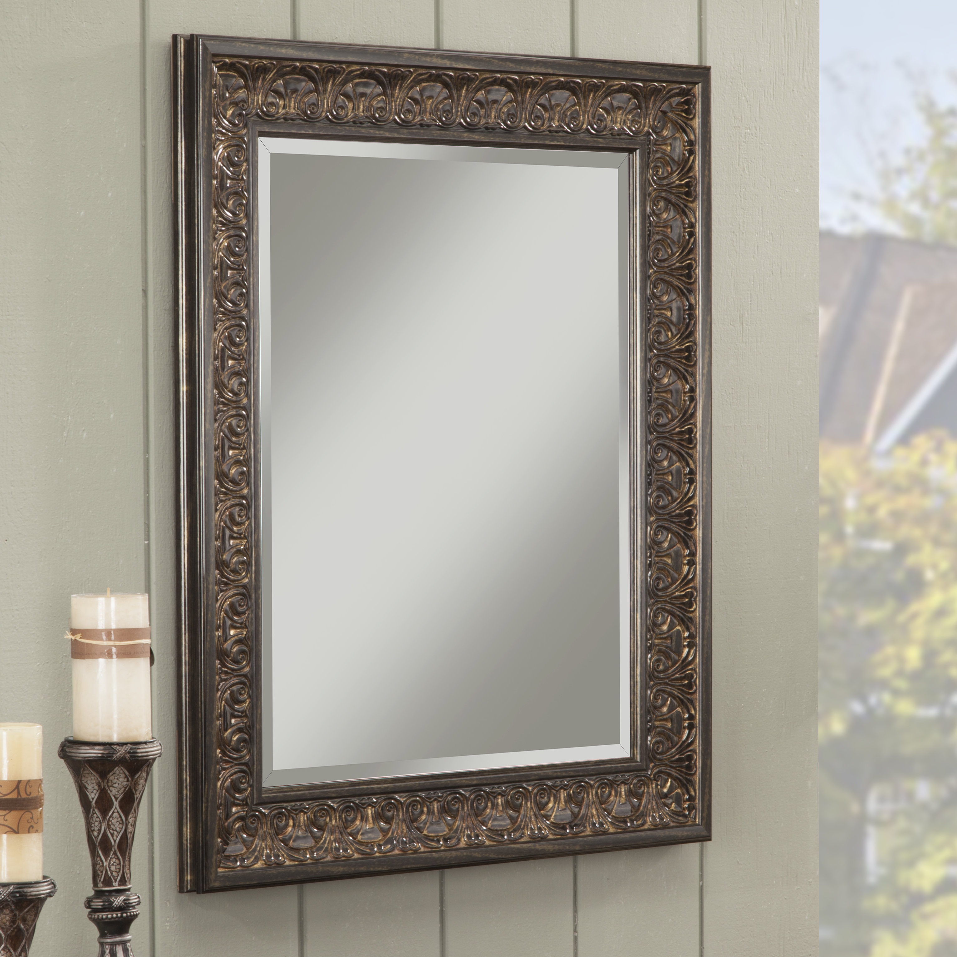 Boyers Wall Mirror With Lake Park Beveled Beaded Accent Wall Mirrors (View 5 of 20)