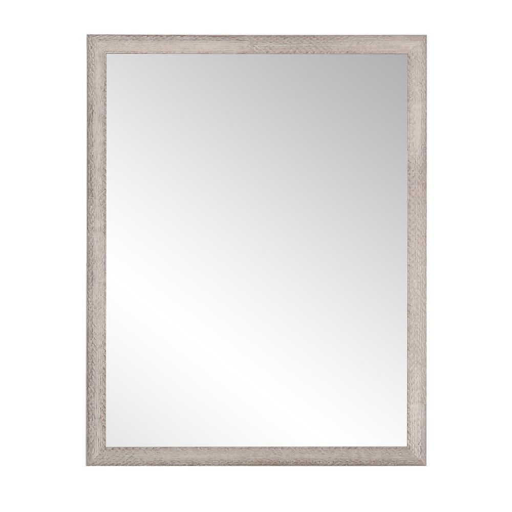 Brandtworks Charcoal Farmhouse Gray Wall Mirror Bm075L2 Pertaining To Farmhouse Woodgrain And Leaf Accent Wall Mirrors (View 10 of 20)