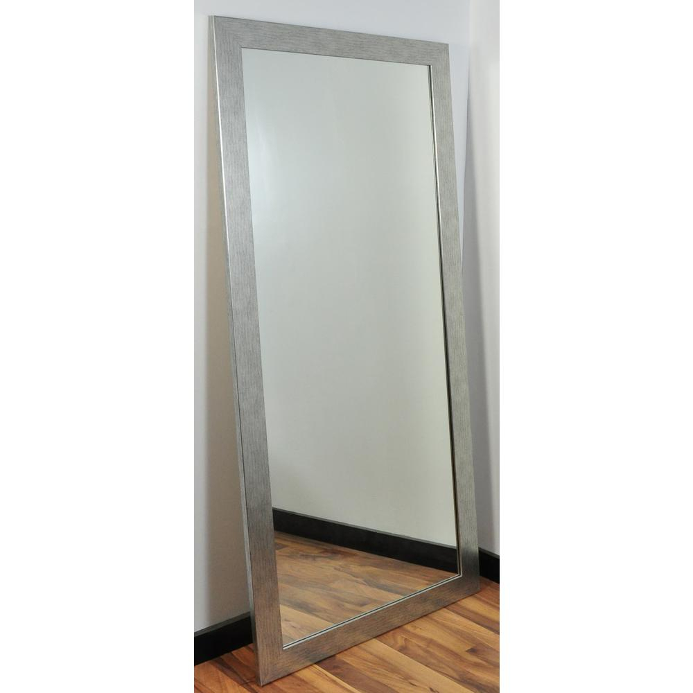 Brandtworks Modern Silver Grain Tall Framed Mirror | For The In Jameson Modern & Contemporary Full Length Mirrors (Image 2 of 20)