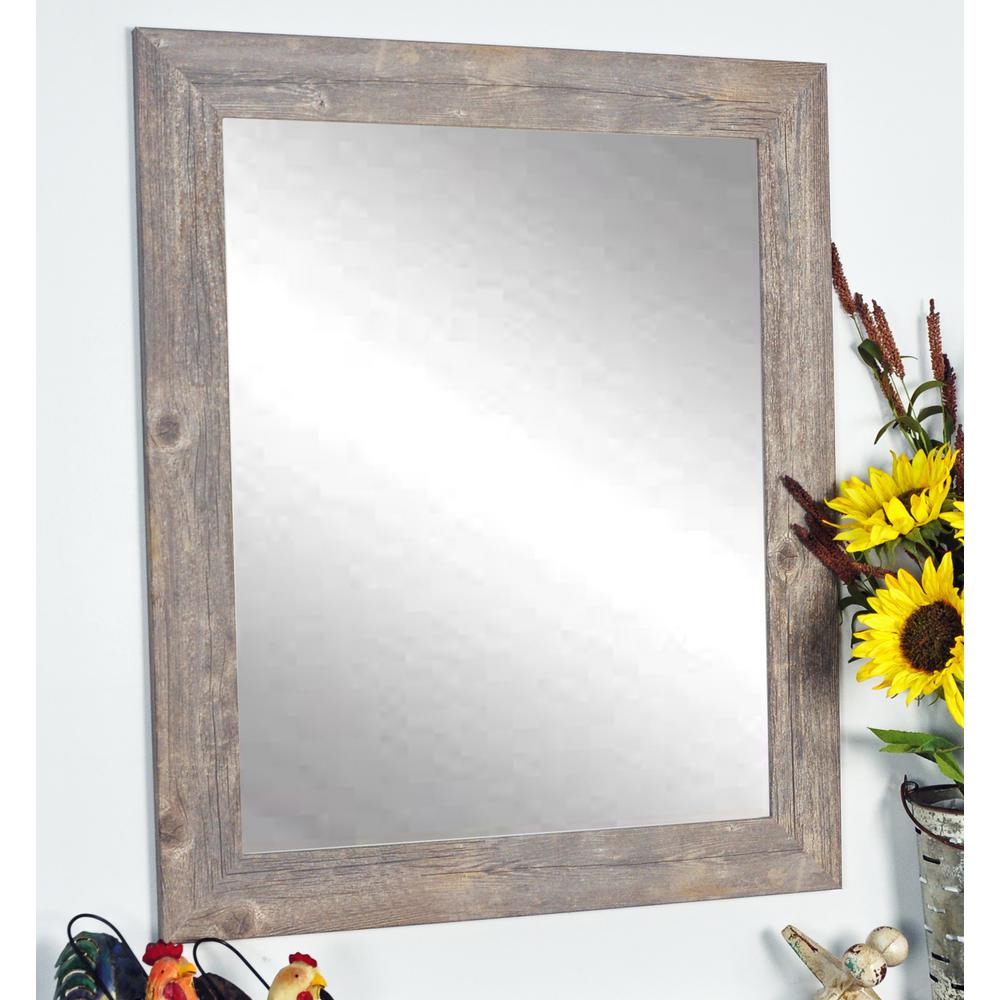 Brandtworks Rustic Wild West Brown Barnwood Decorative Throughout Glynis Wild West Accent Mirrors (View 3 of 20)