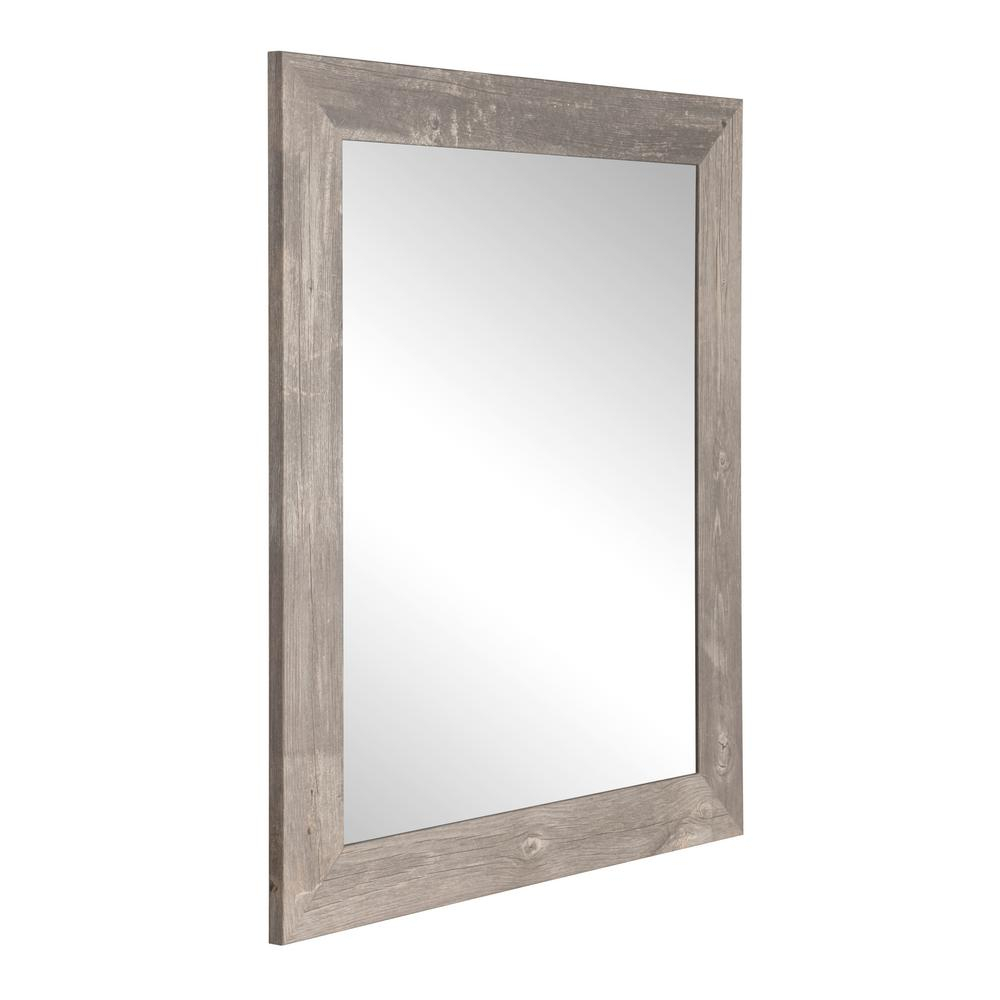 Brandtworks Rustic Wild West Brown Barnwood Decorative Within Glynis Wild West Accent Mirrors (View 7 of 20)