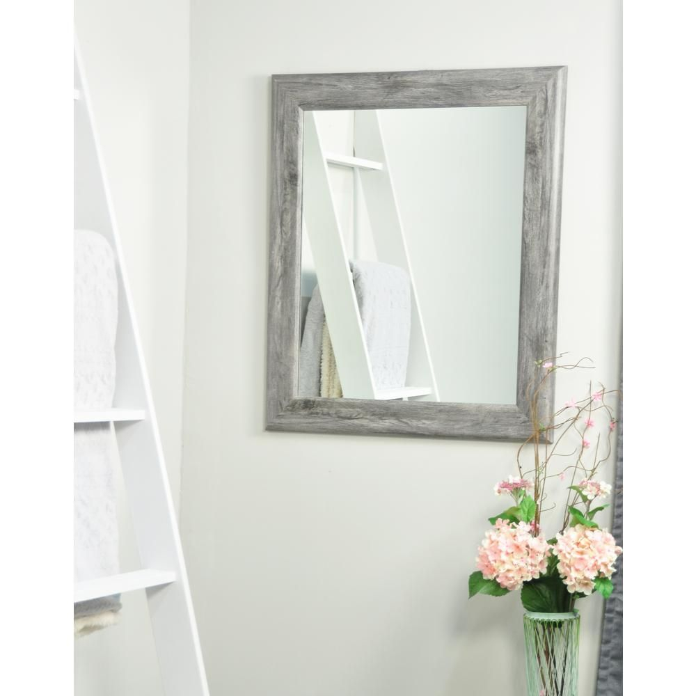 Brandtworks Smooth Rectangle Gray Barnwood Decorative Wall With Regard To Glynis Wild West Accent Mirrors (View 5 of 20)