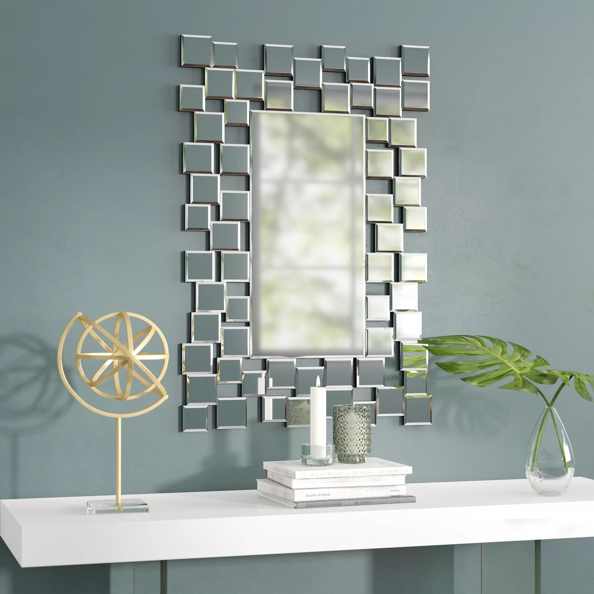 Brayden Studio Modern & Contemporary Accent Wall Mirror For Dekalb Modern & Contemporary Distressed Accent Mirrors (Image 2 of 20)