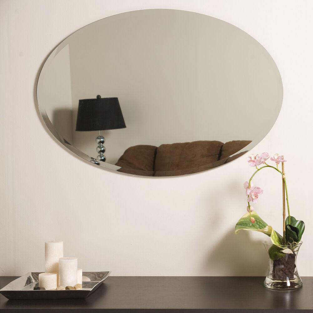 Brayden Studio Thornbury Oval Bevel Frameless Wall Mirror 193257604708 |  Ebay With Regard To Thornbury Oval Bevel Frameless Wall Mirrors (Image 1 of 20)