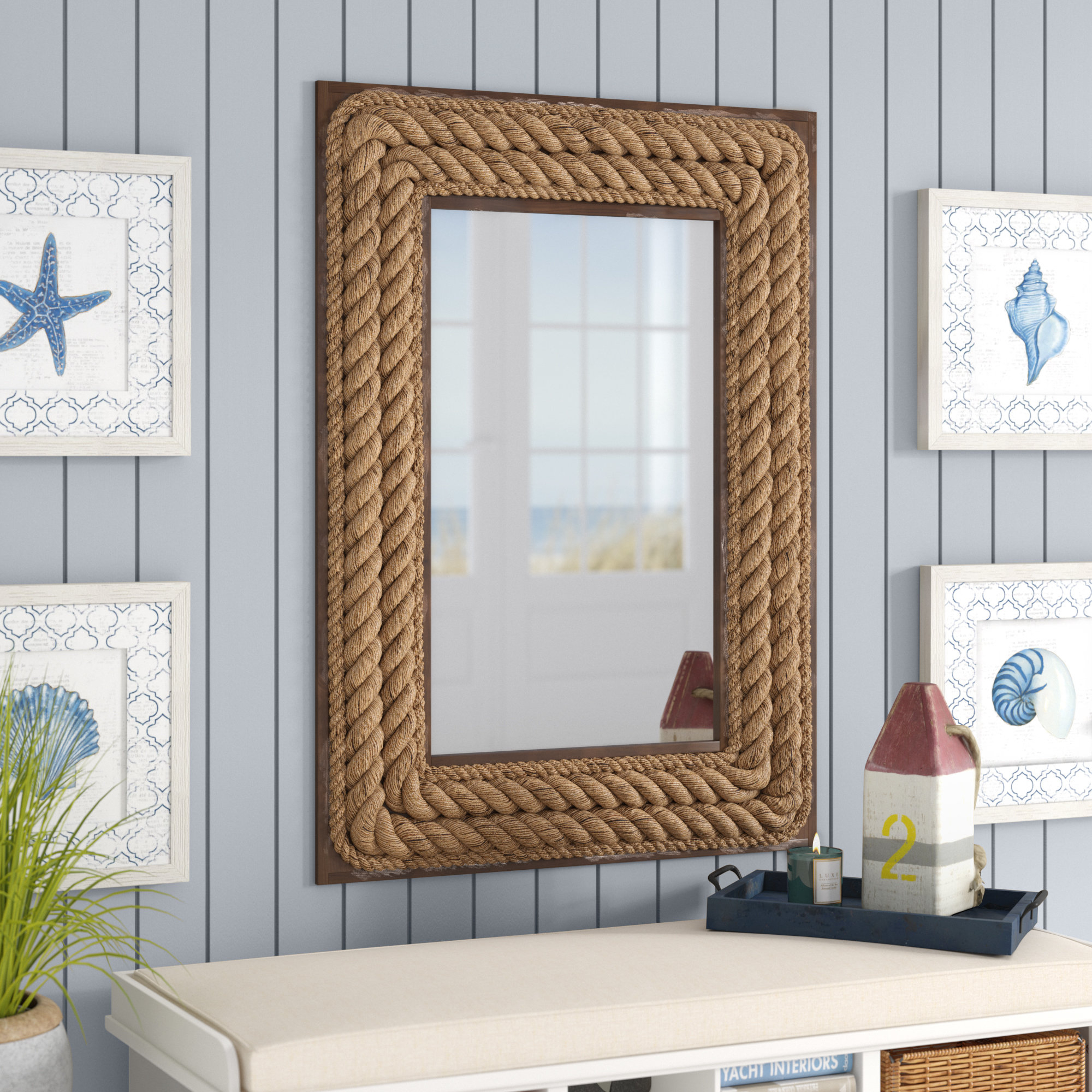 Breakwater Bay Mcelyea Accent Mirror Inside Rena Accent Mirrors (Image 3 of 20)