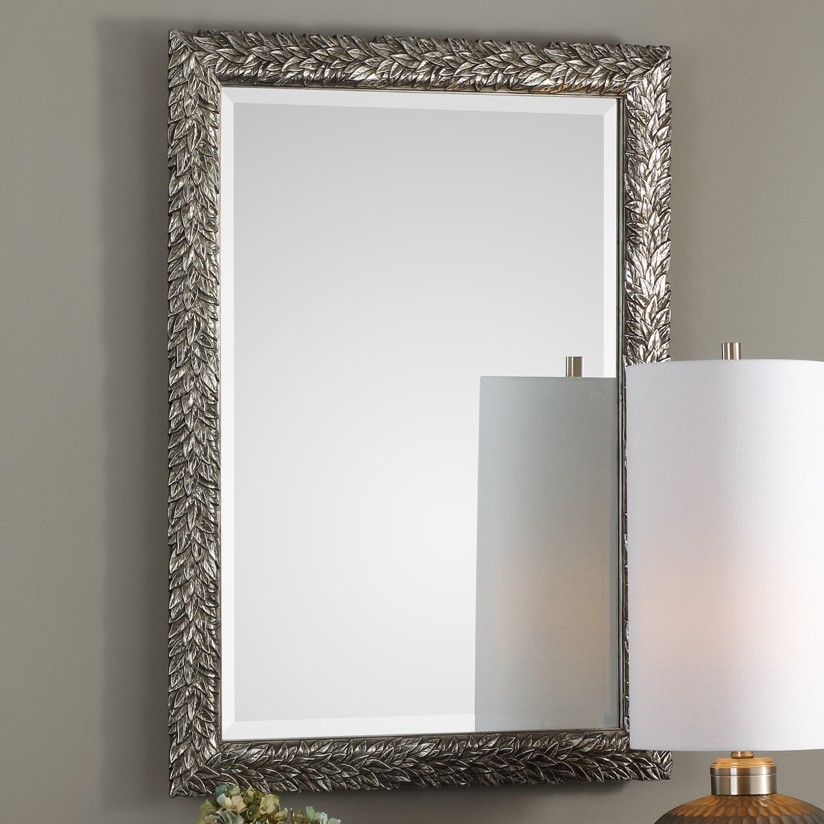 Brennen Leaf Accent Mirror With Regard To Medallion Accent Mirrors (Image 6 of 20)