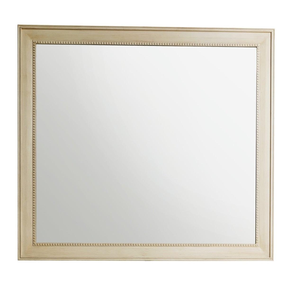 """Bristol 44"""" Rectangular Mirror, Vintage Vanilla – Off White With Regard To Bristol Accent Mirrors (View 10 of 20)"""