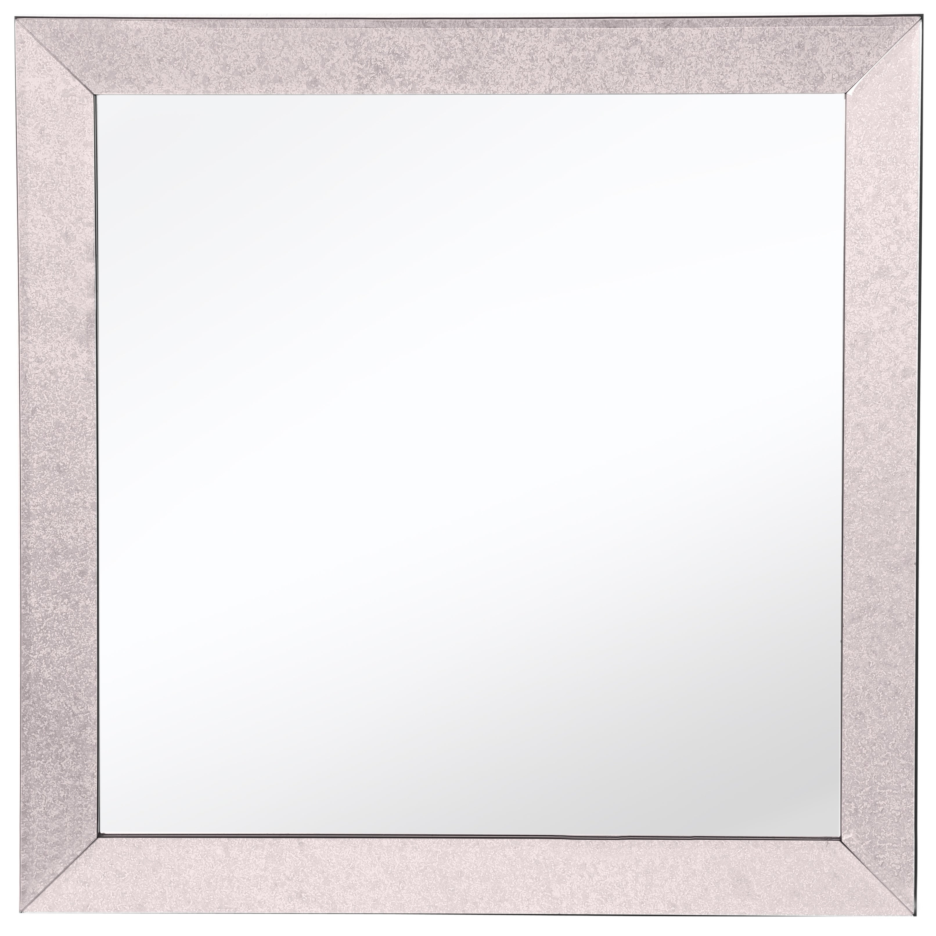 Bristol Square Classic Textured Frame Mirror Intended For Bristol Accent Mirrors (Image 7 of 20)