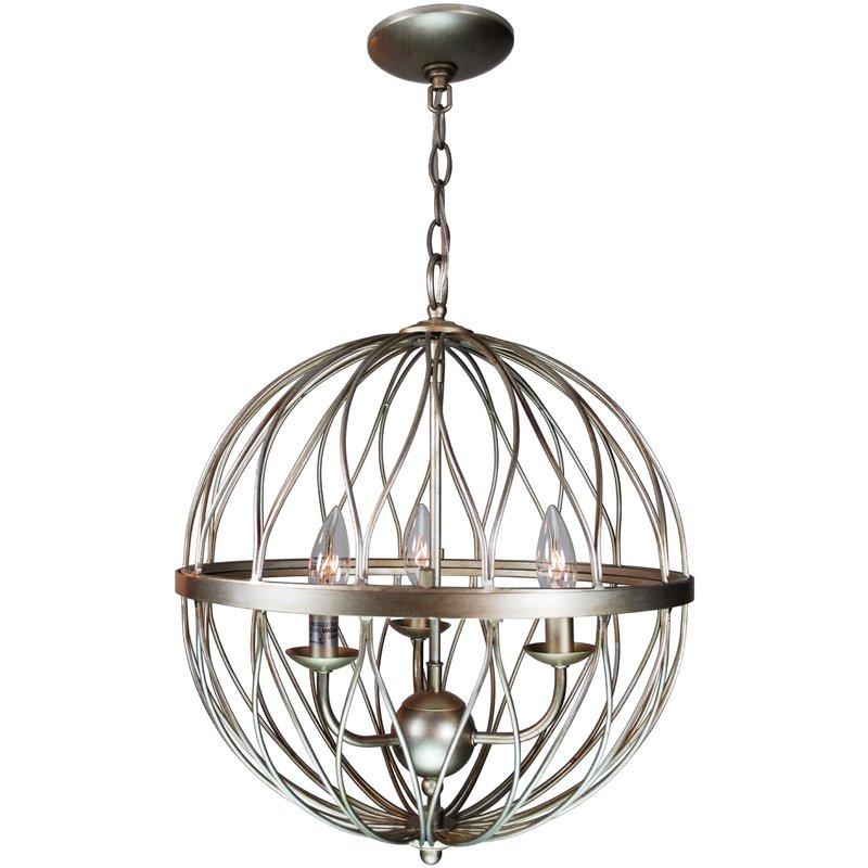 Brittain 3 Light Globe Chandelier Within La Sarre 3 Light Globe Chandeliers (View 9 of 20)