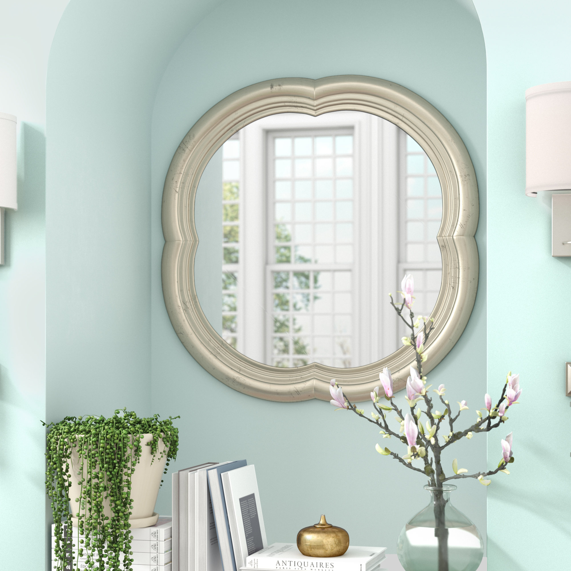 Broadmeadow Accent Wall Mirror | Wayfair In Hussain Tile Accent Wall Mirrors (Image 6 of 20)