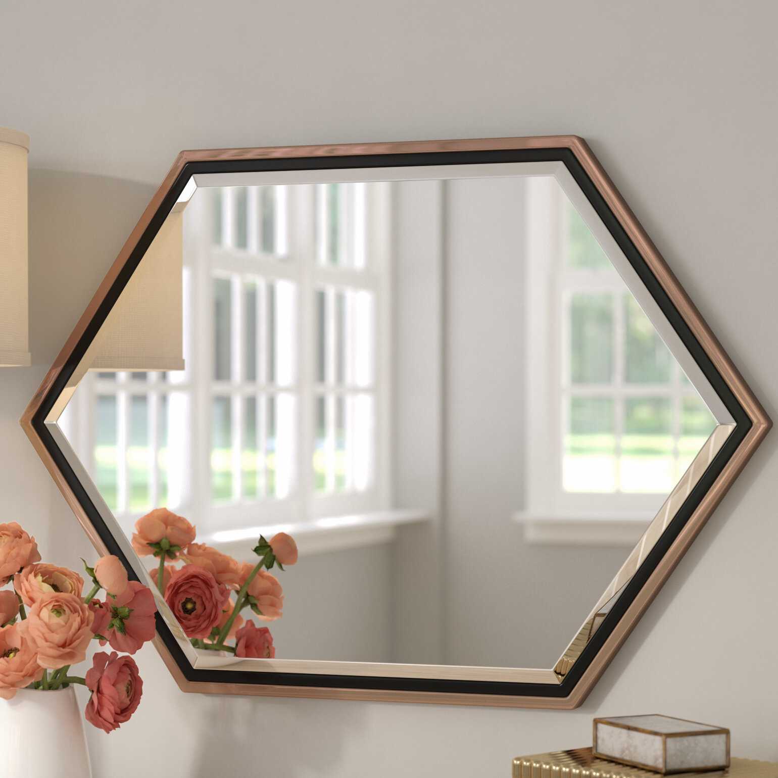Broadmeadow Accent Wall Mirror | Wayfair Inside Hussain Tile Accent Wall Mirrors (Image 7 of 20)