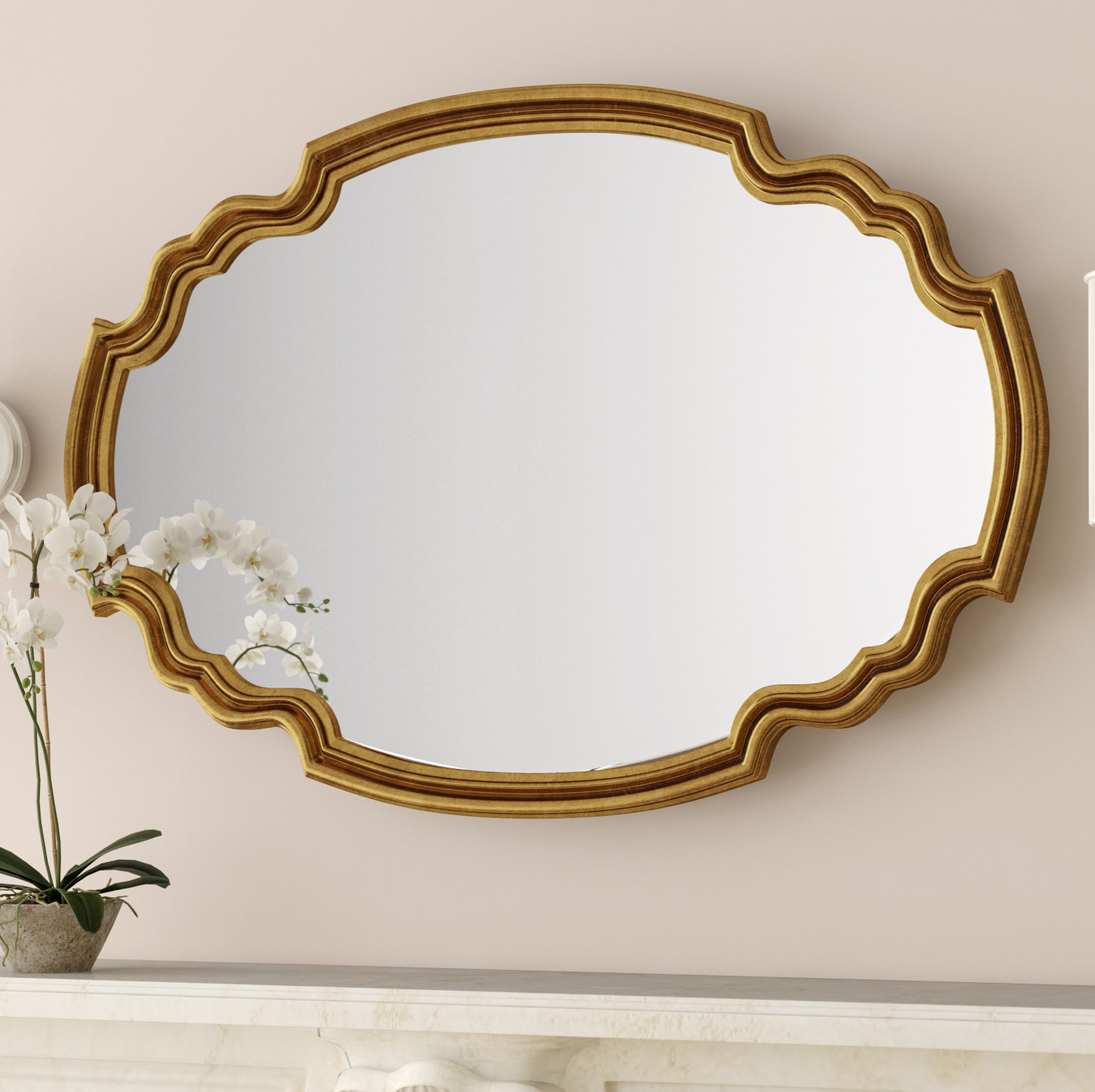 Broadmeadow Glam Accent Wall Mirror For Broadmeadow Glam Accent Wall Mirrors (View 2 of 20)