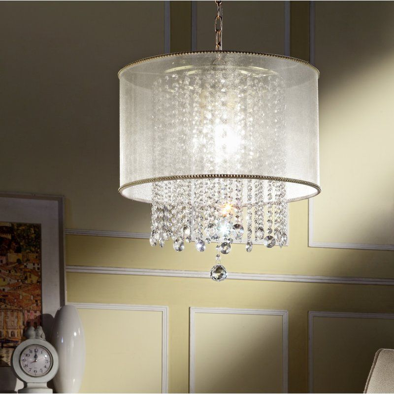 Broussard 3 Light Led Crystal Chandelier In 2019 | 439 Ideas Regarding Aldgate 4 Light Crystal Chandeliers (View 10 of 20)