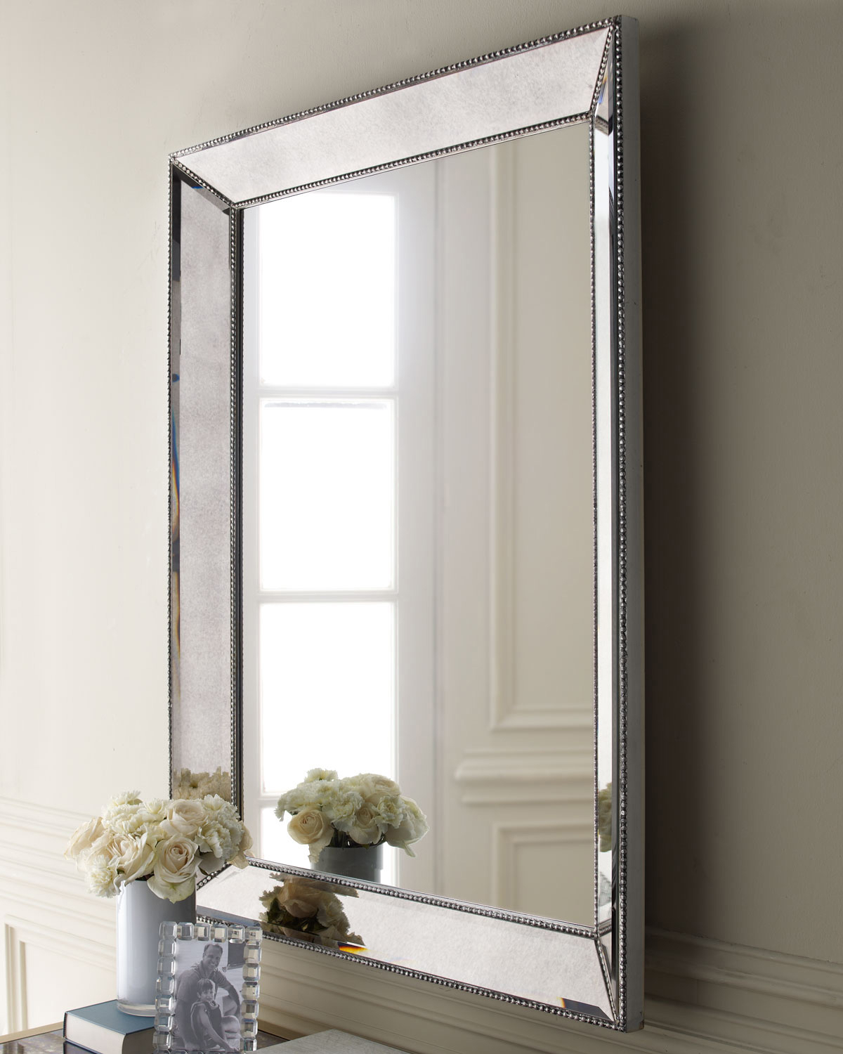 Brown Interior Accent With Reference To Metal Framed Mirrors With Regard To Beaded Accent Wall Mirrors (View 13 of 20)