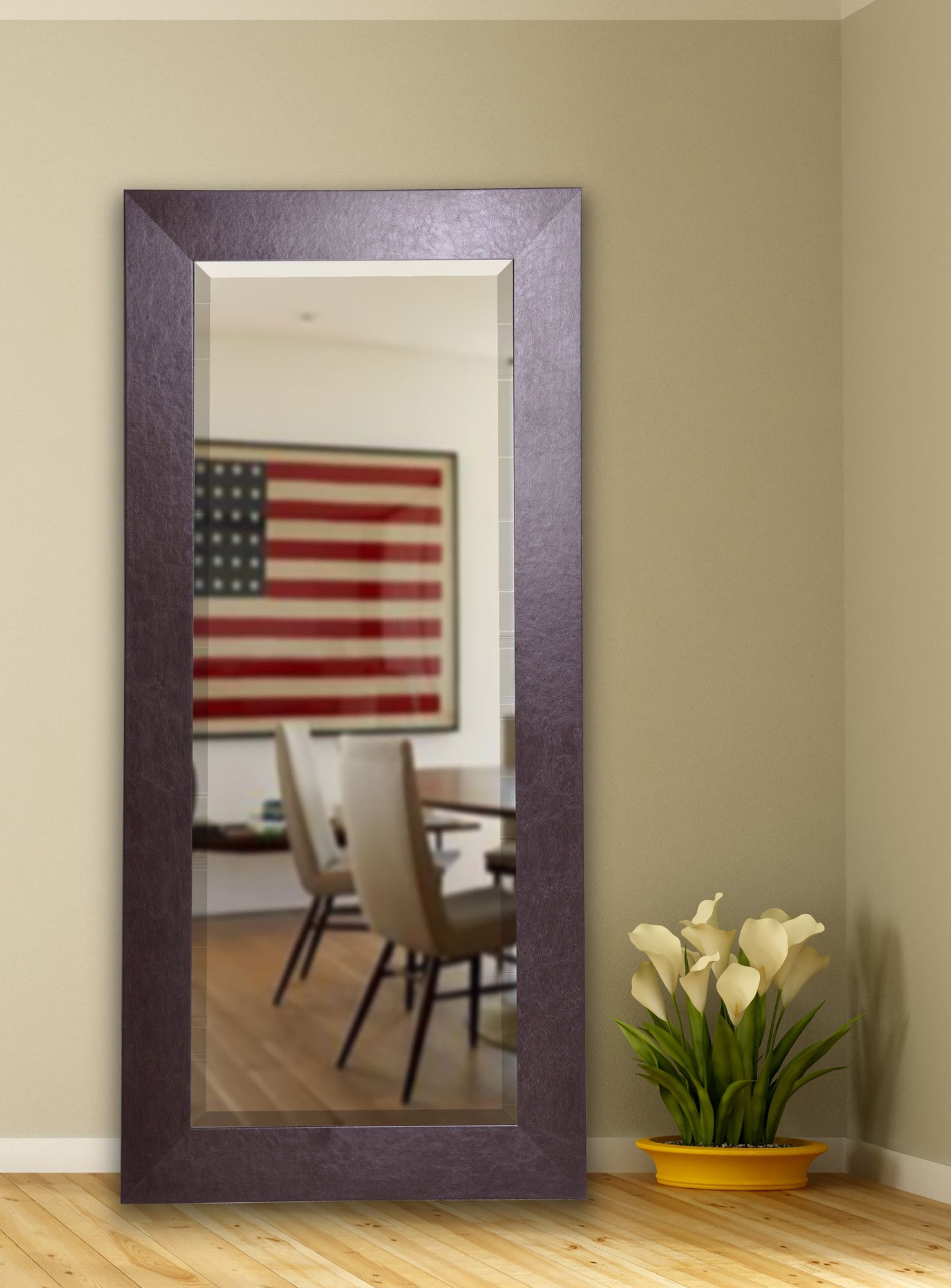 Brown Modern & Contemporary Beveled Full Length Mirror In Jameson Modern & Contemporary Full Length Mirrors (Image 3 of 20)