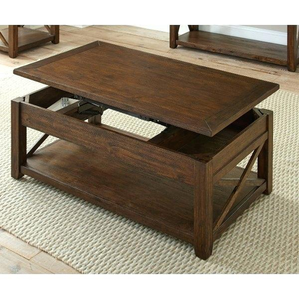Brown Wood Coffee Table – Wethepeopleoklahoma With Regard To Carbon Loft Kenyon Natural Rustic Coffee Tables (Image 4 of 25)