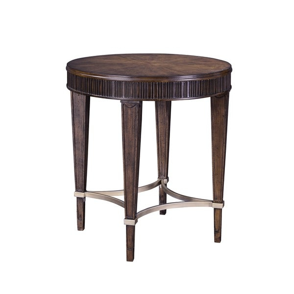 Broyhill Cashmera Round Lamp Table Within Gracewood Hollow Dones Traditional Cinnamon Round End Tables (View 2 of 25)