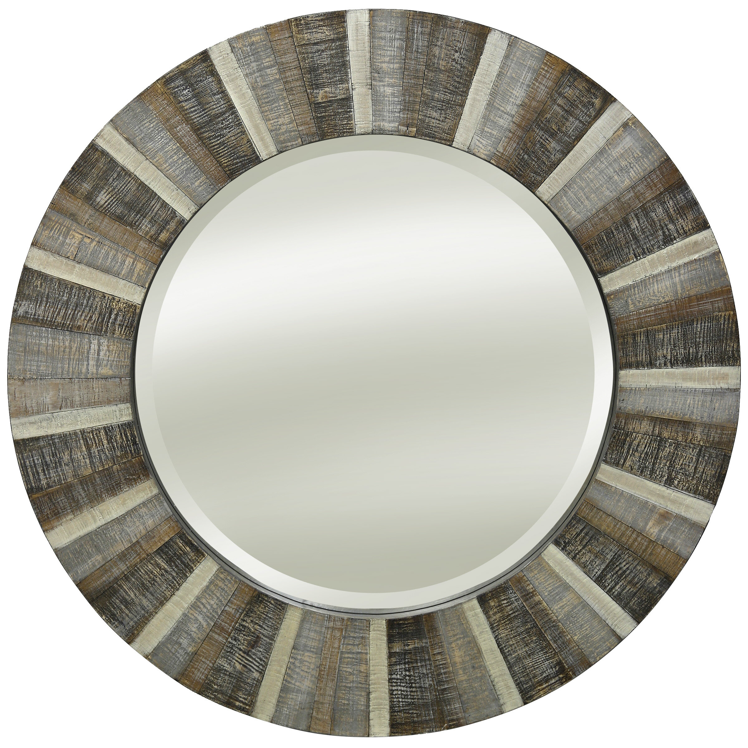 Broyhill Mirror Wood | Wayfair With Perillo Burst Wood Accent Mirrors (Image 2 of 20)