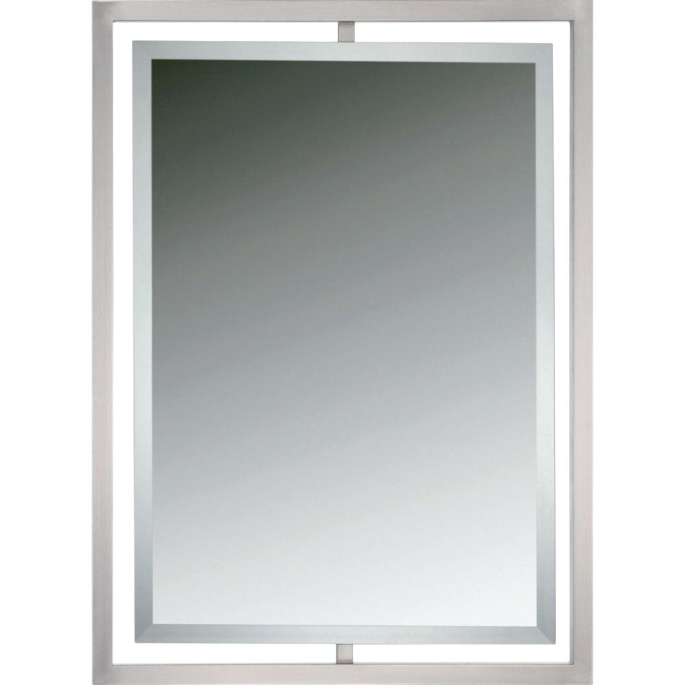 Brushed Nickel Mirrors – Appyhomes (Image 4 of 20)