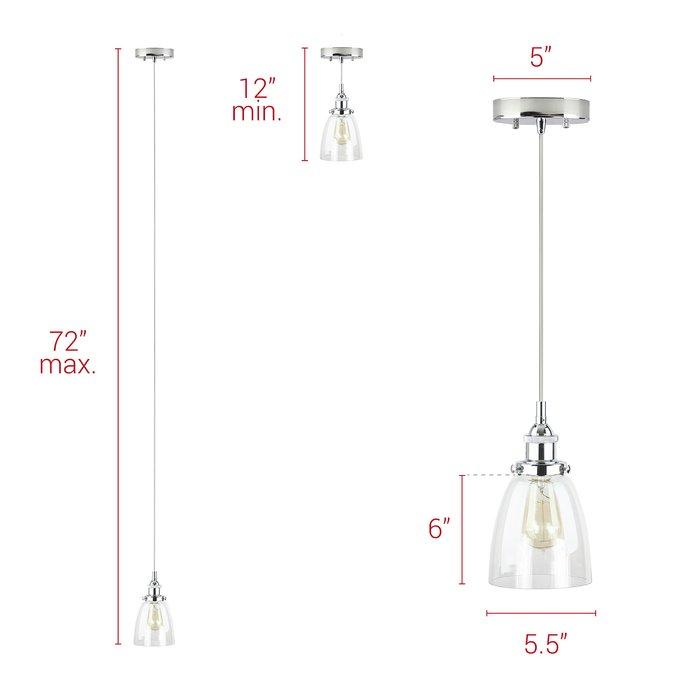 Bundaberg 1 Light Single Bell Pendant For Bundaberg 1 Light Single Bell Pendants (View 13 of 25)