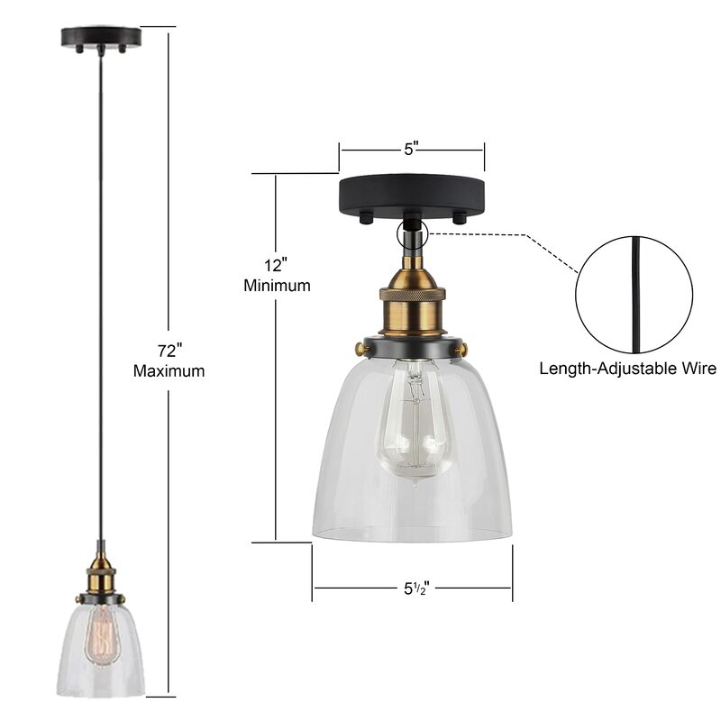 Bundaberg 1 Light Single Bell Pendant Pertaining To Houon 1 Light Cone Bell Pendants (Image 3 of 25)