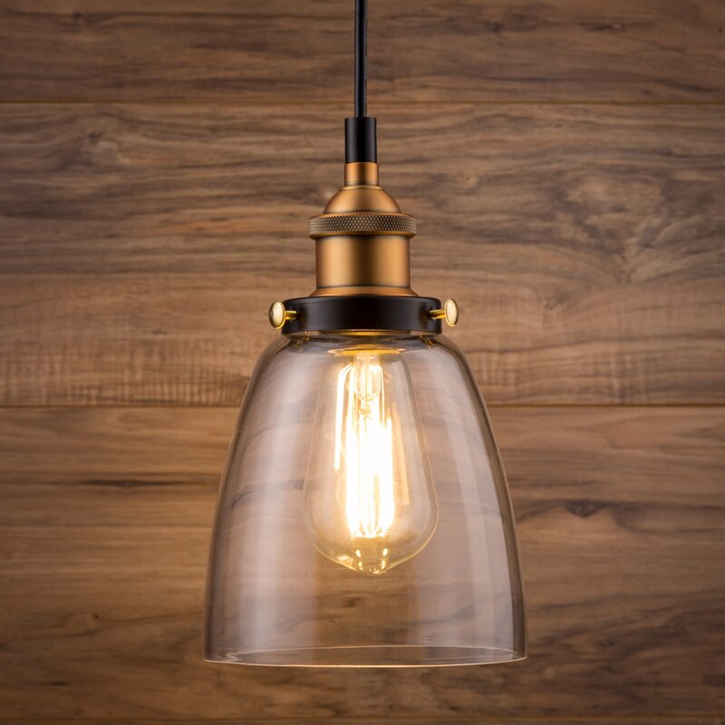 Bundaberg 1 Light Single Bell Pendant Within Houon 1 Light Cone Bell Pendants (View 22 of 25)