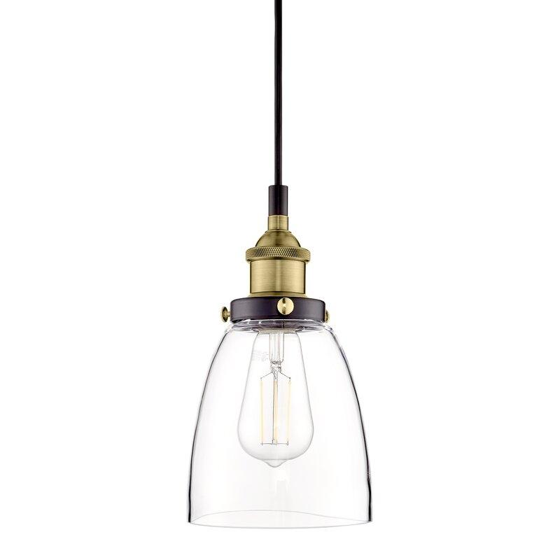 Bundaberg 1 Light Single Bell Pendant Within Houon 1 Light Cone Bell Pendants (View 8 of 25)