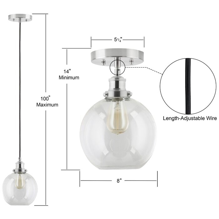 Bundy 1 Light Single Globe Pendant For Bundy 1 Light Single Globe Pendants (View 14 of 25)