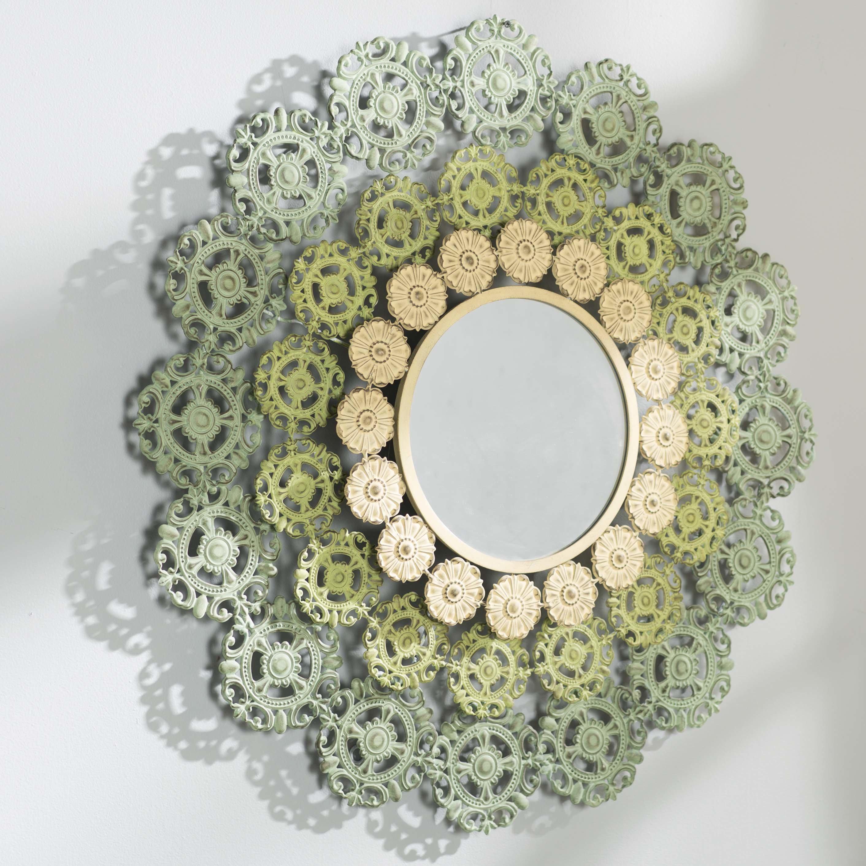 Bungalow Rose Engelhardt Medallion Accent Mirror & Reviews With Medallion Accent Mirrors (Image 7 of 20)