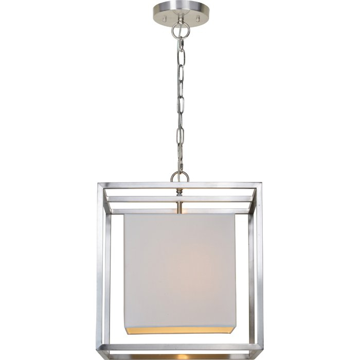 Bunnell 1 Light Single Square Pendant For Akash Industrial Vintage 1 Light Geometric Pendants (Image 8 of 25)