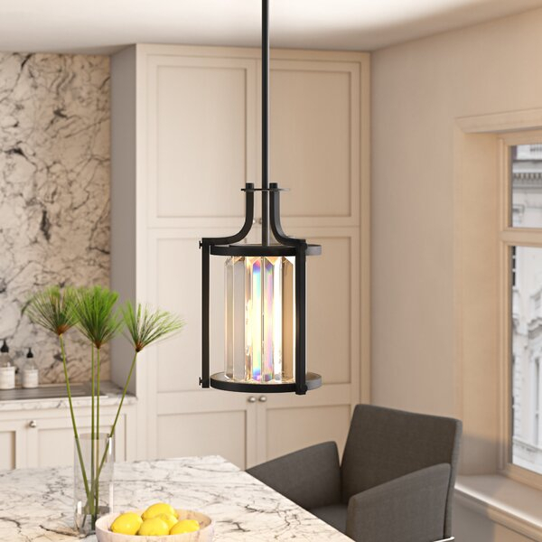 Bunton 1 Light Lantern Pendantmercury Row Intended For Angelina 1 Light Single Cylinder Pendants (View 17 of 25)