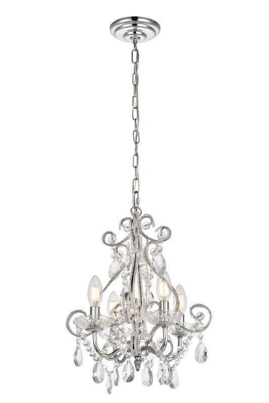 Burcott 4 Light Candle Style Chandelier In 2019 | Home Decor Within Oriana 4 Light Single Geometric Chandeliers (View 19 of 25)