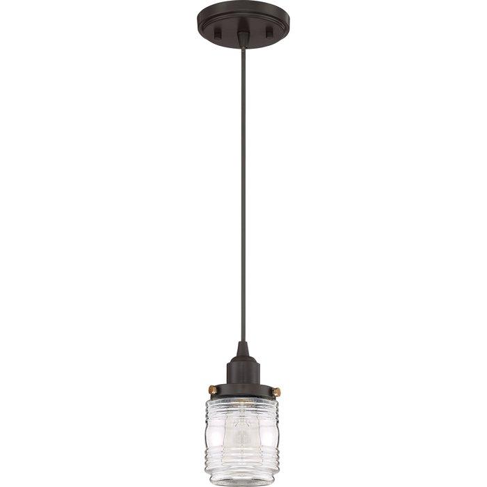 Burgess 1 Light Single Jar Pendant Within Houon 1 Light Cone Bell Pendants (Image 8 of 25)