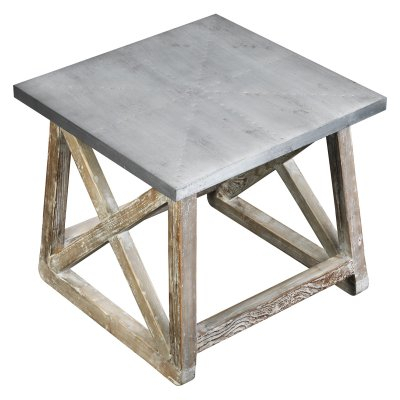 Burnham Home Designs Martin Side Table | Products In 2019 Pertaining To Copper Grove Chrysotome Square Unfinished Solid Parawood Coffee Tables (View 7 of 25)