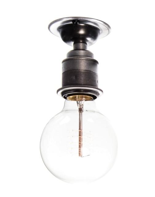 Buy Industrial & Vintage Ceiling Lights Uk – Urban Cottage With Regard To Emaria 3 Light Single Drum Pendants (Image 4 of 25)