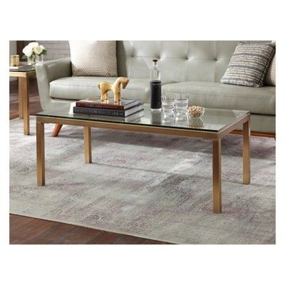 Buylateral Manhattan Coffee Table Gold   Products   Table Within Simple Living Manhattan Coffee Tables (View 4 of 25)