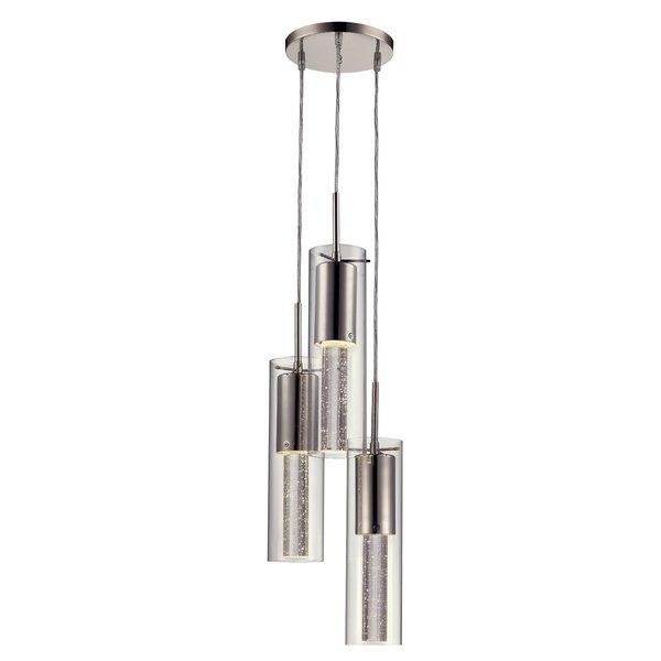Cadarrah 3 Light Cluster Cylinder Pendantorren Ellis Regarding Jayce 1 Light Cylinder Pendants (View 11 of 25)