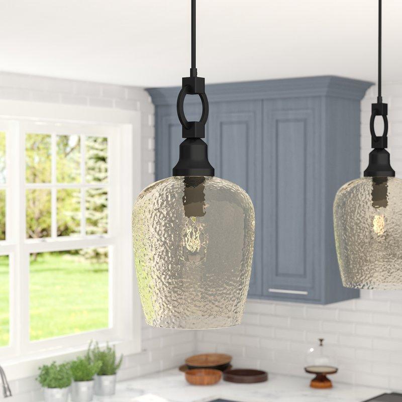 Caden 1 Light Single Bell Pendant Throughout 1 Light Single Bell Pendants (Image 8 of 25)