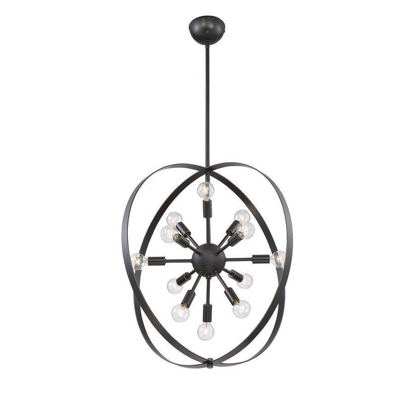 Caius 12 Light Chandelier | Kitchen | Chandelier, Chandelier In Verlene Foyer 5 Light Globe Chandeliers (View 12 of 20)